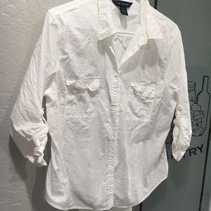 PRO White Cotton button Dockers XL  top